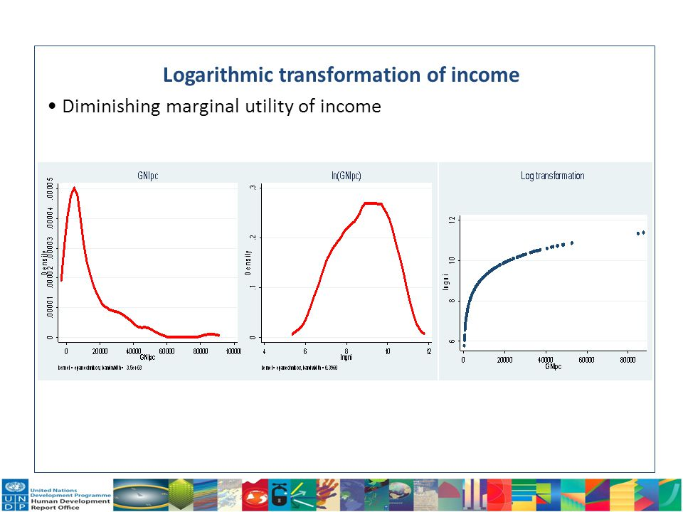 12 Logarithmic transformation of income Diminishing marginal utility of income