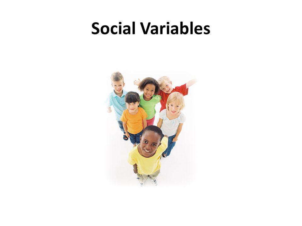 Social Variables