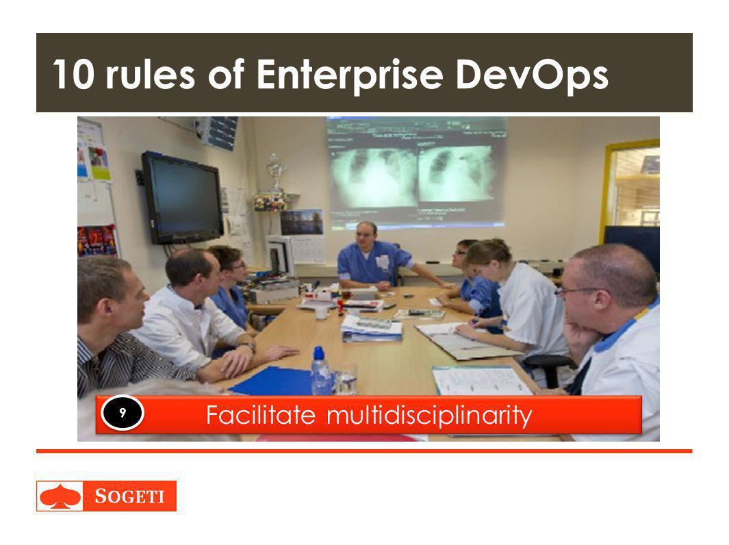 Title | Plaats| Datum | 25 10 rules of Enterprise DevOps Facilitate multidisciplinarity 9 9