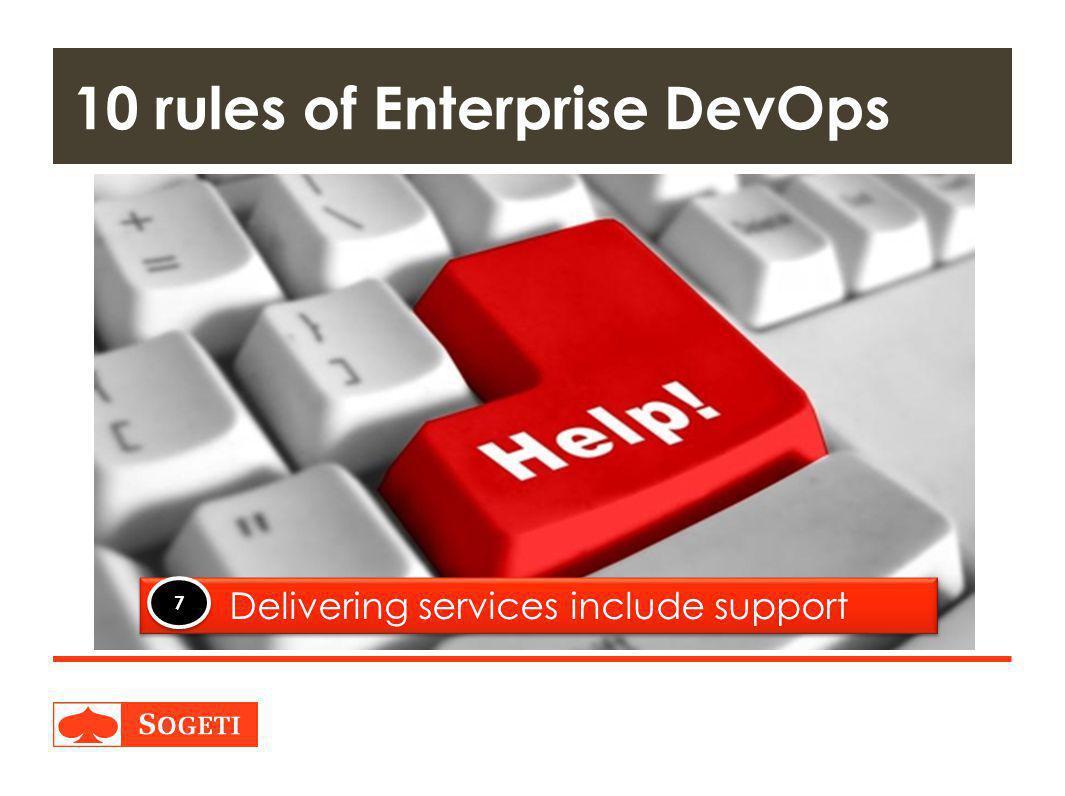 Title | Plaats| Datum | 27 10 rules of Enterprise DevOps Delivering services include support 7 7