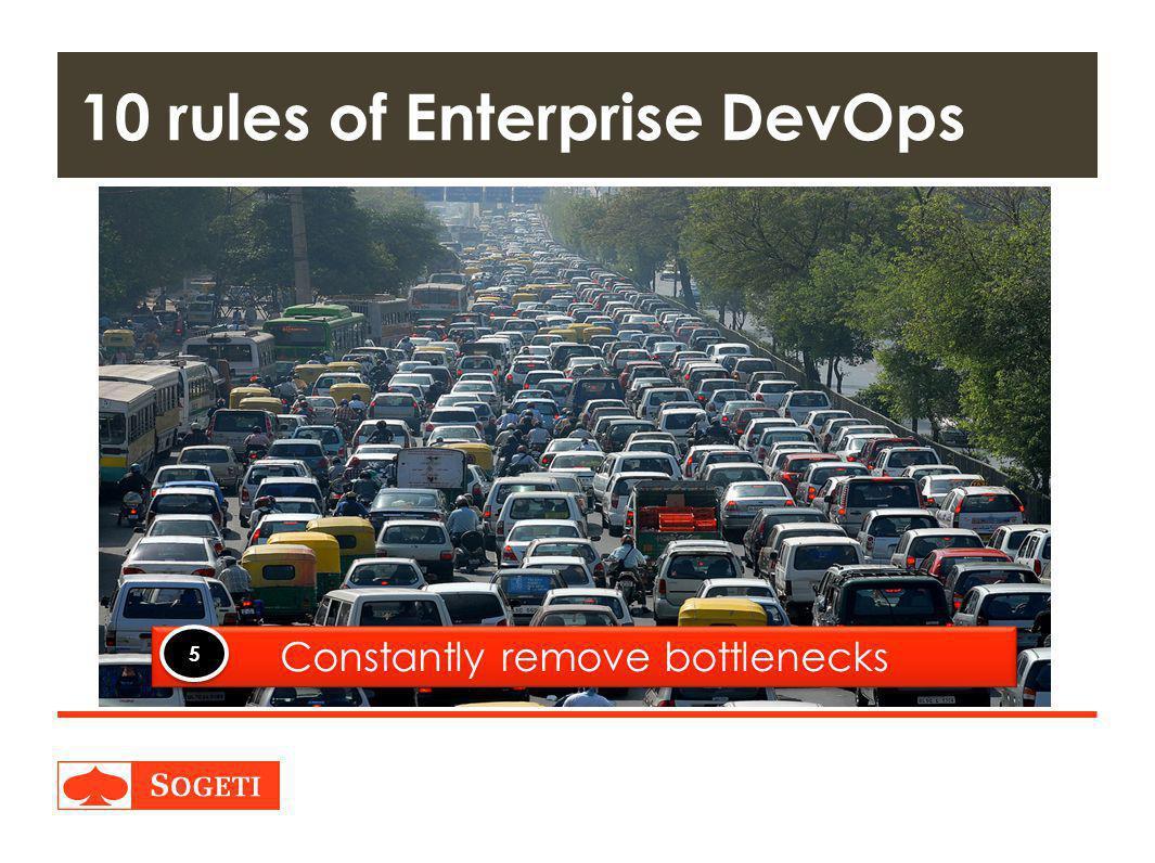 Title | Plaats| Datum | 29 10 rules of Enterprise DevOps Constantly remove bottlenecks 5 5
