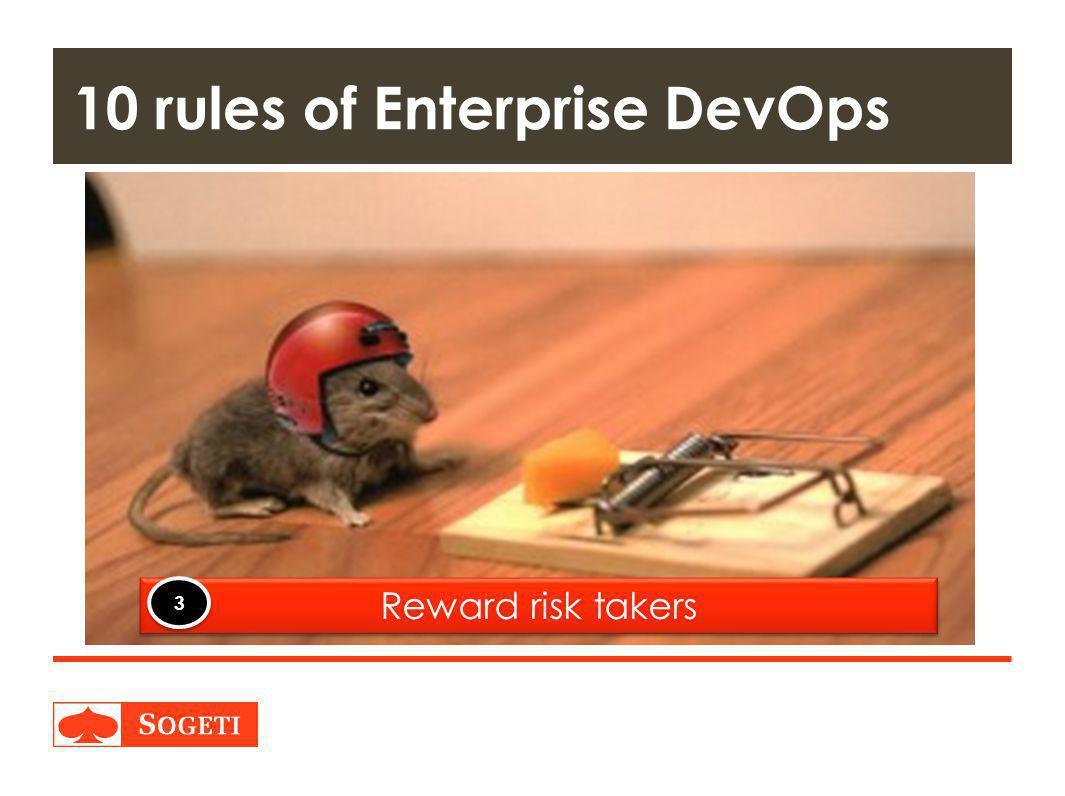 Title | Plaats| Datum | 31 10 rules of Enterprise DevOps Reward risk takers 3 3