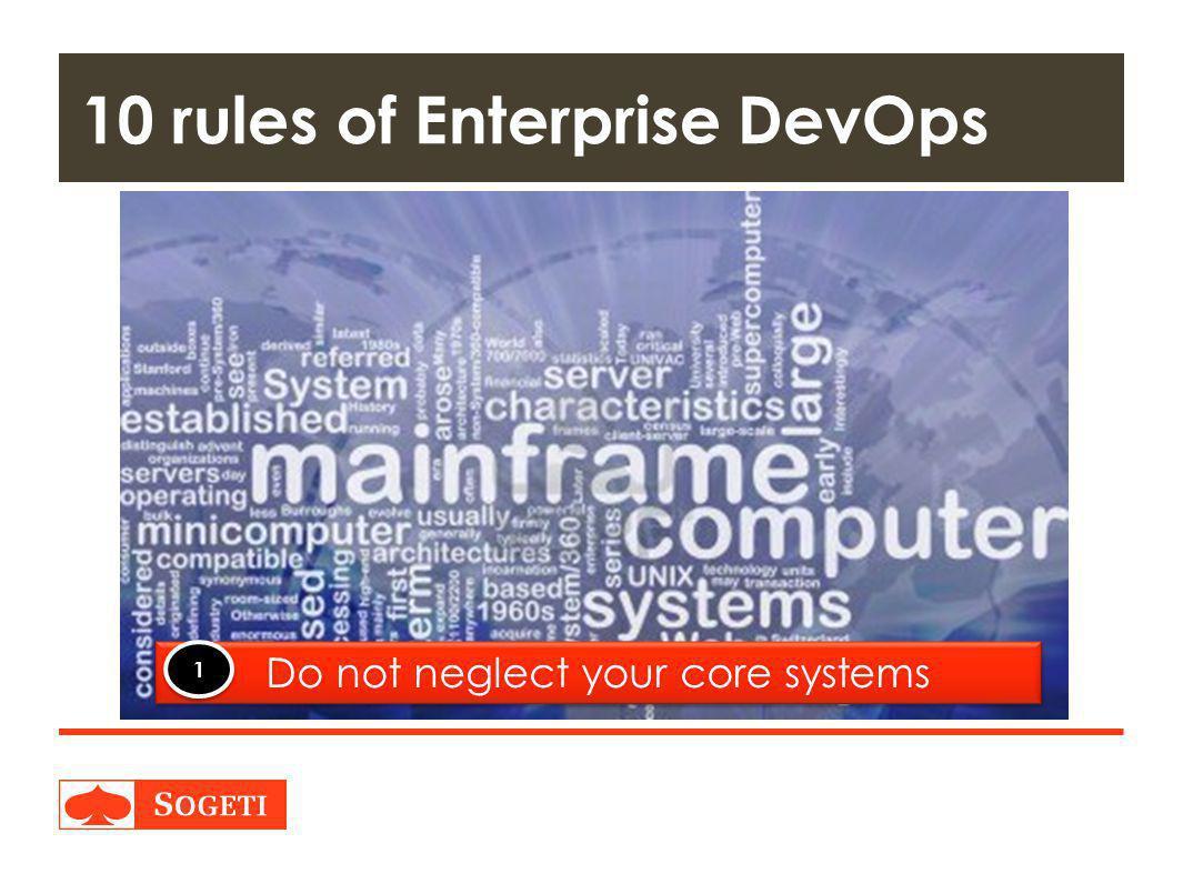Title | Plaats| Datum | 33 10 rules of Enterprise DevOps Do not neglect your core systems 1 1