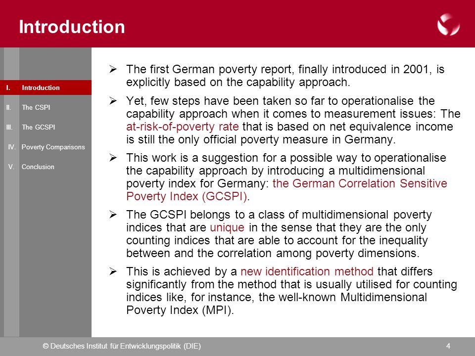 © Deutsches Institut für Entwicklungspolitik (DIE)4 Introduction I.