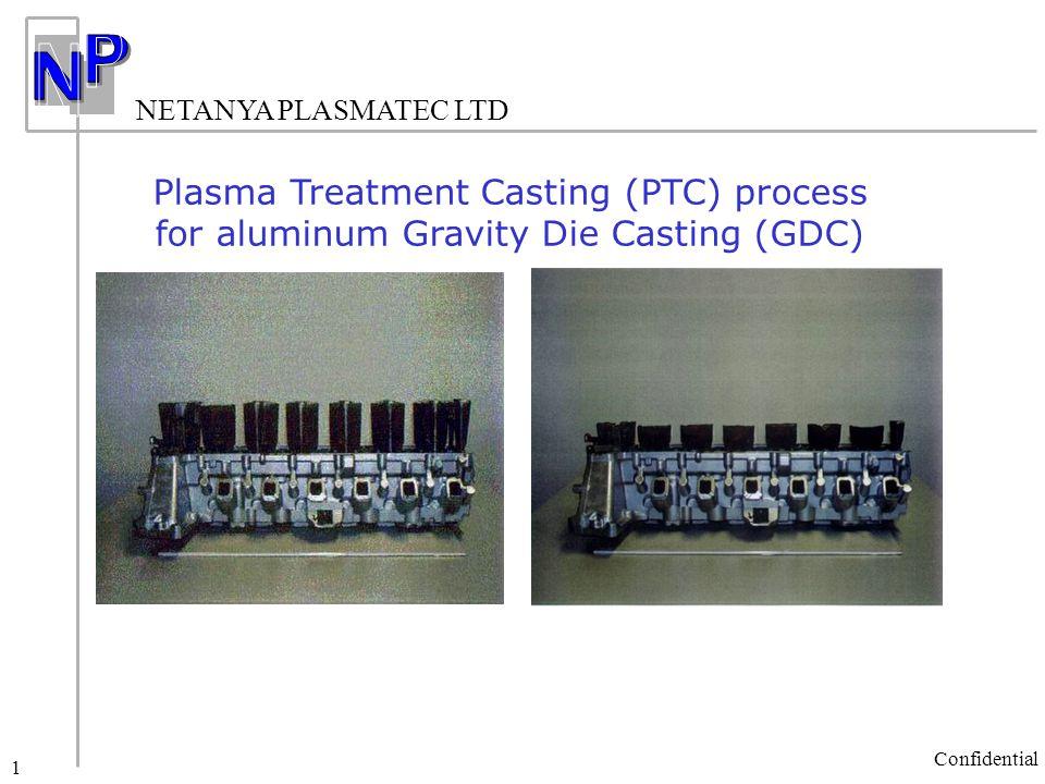 NETANYA PLASMATEC LTD Confidential 1 Plasma Treatment Casting (PTC) process for aluminum Gravity Die Casting (GDC)