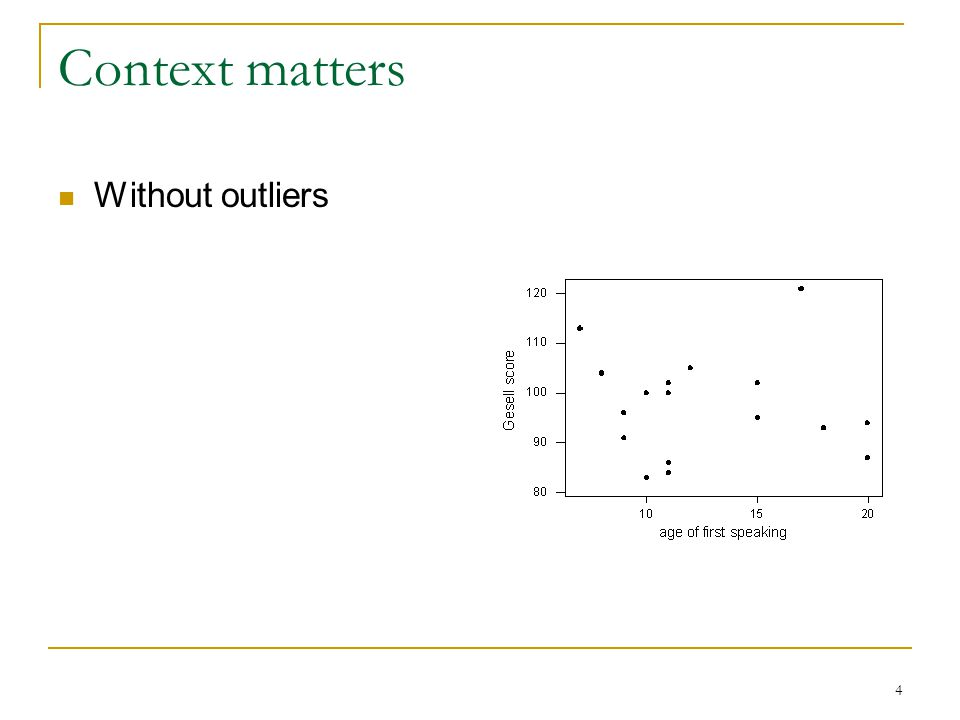4 Context matters Without outliers