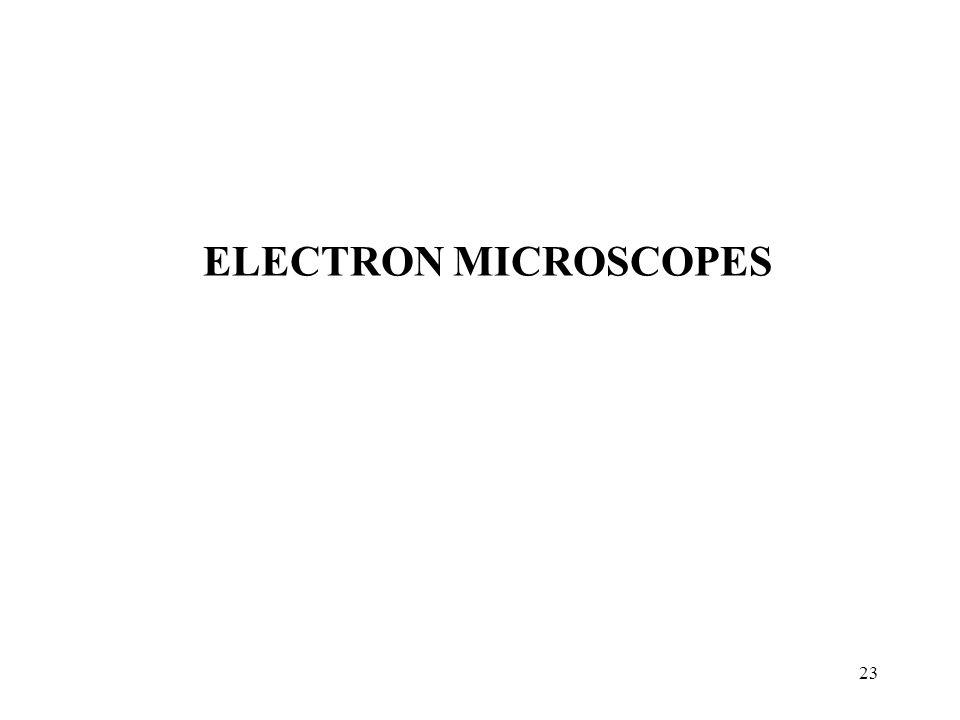 23 ELECTRON MICROSCOPES