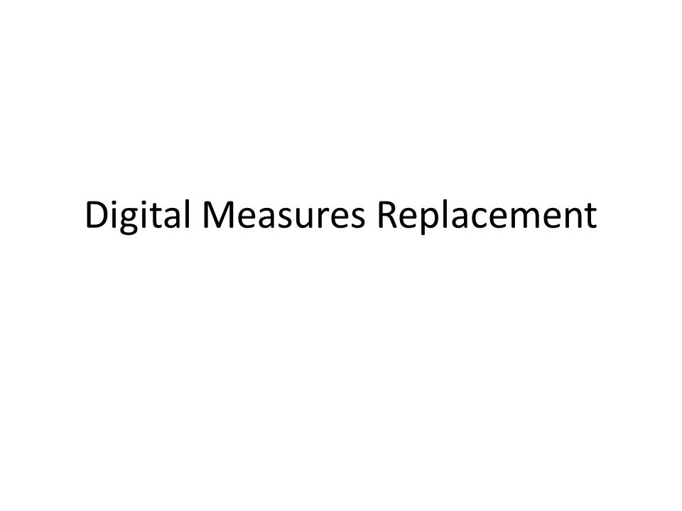 Digital Measures Replacement