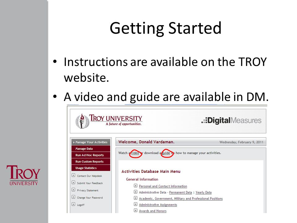 Getting Started Instructions are available on the TROY website.