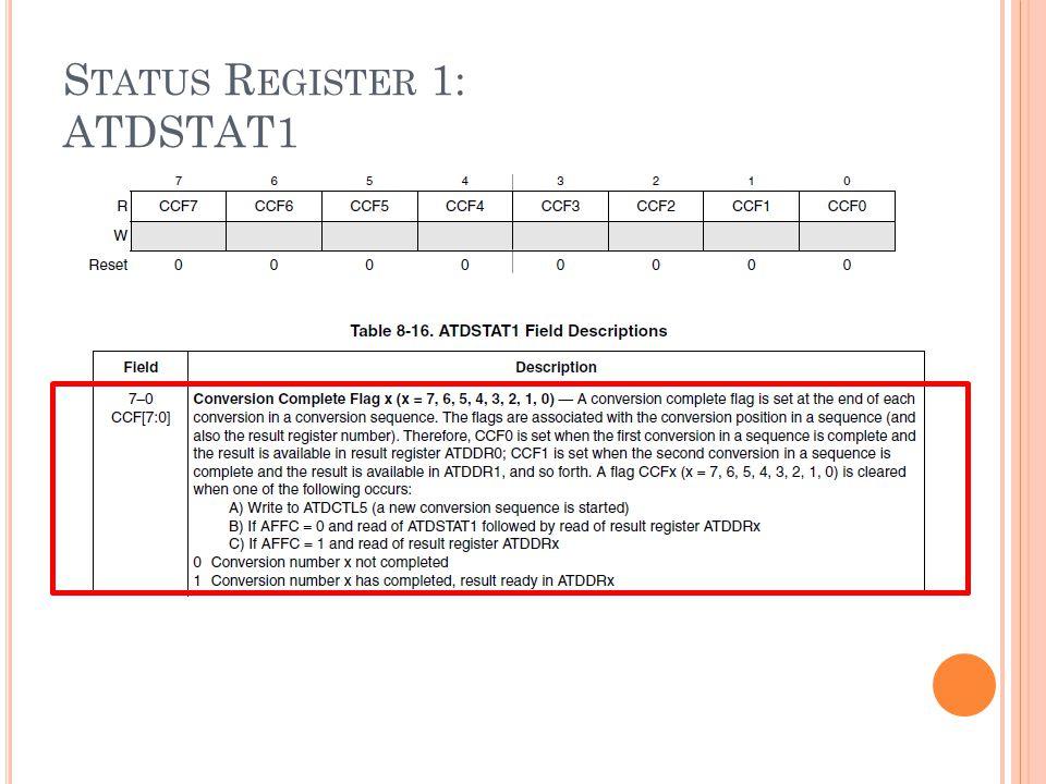 S TATUS R EGISTER 1: ATDSTAT1