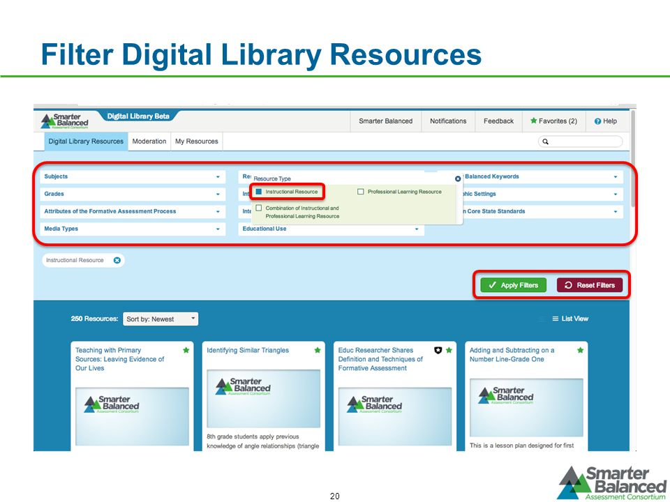 Filter Digital Library Resources 20