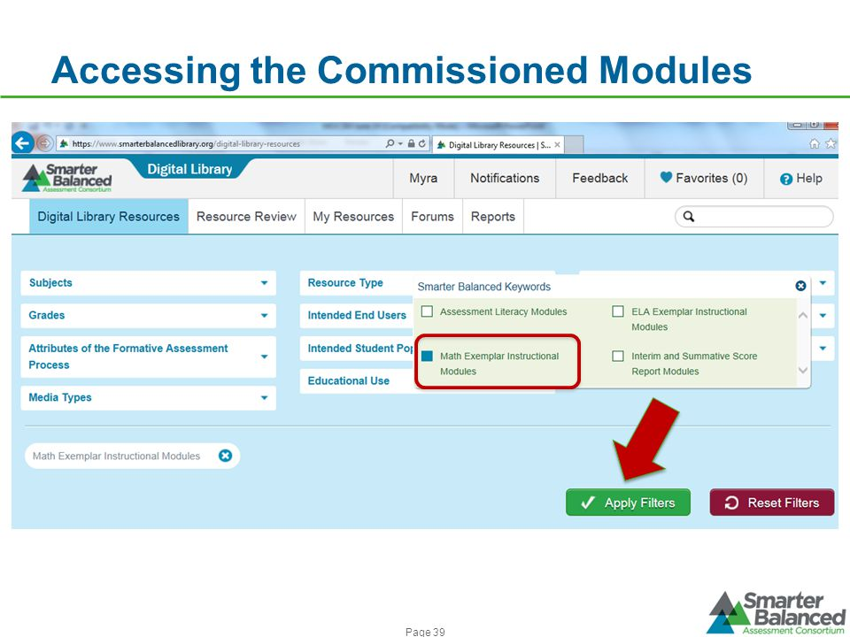 Accessing the Commissioned Modules Page 39