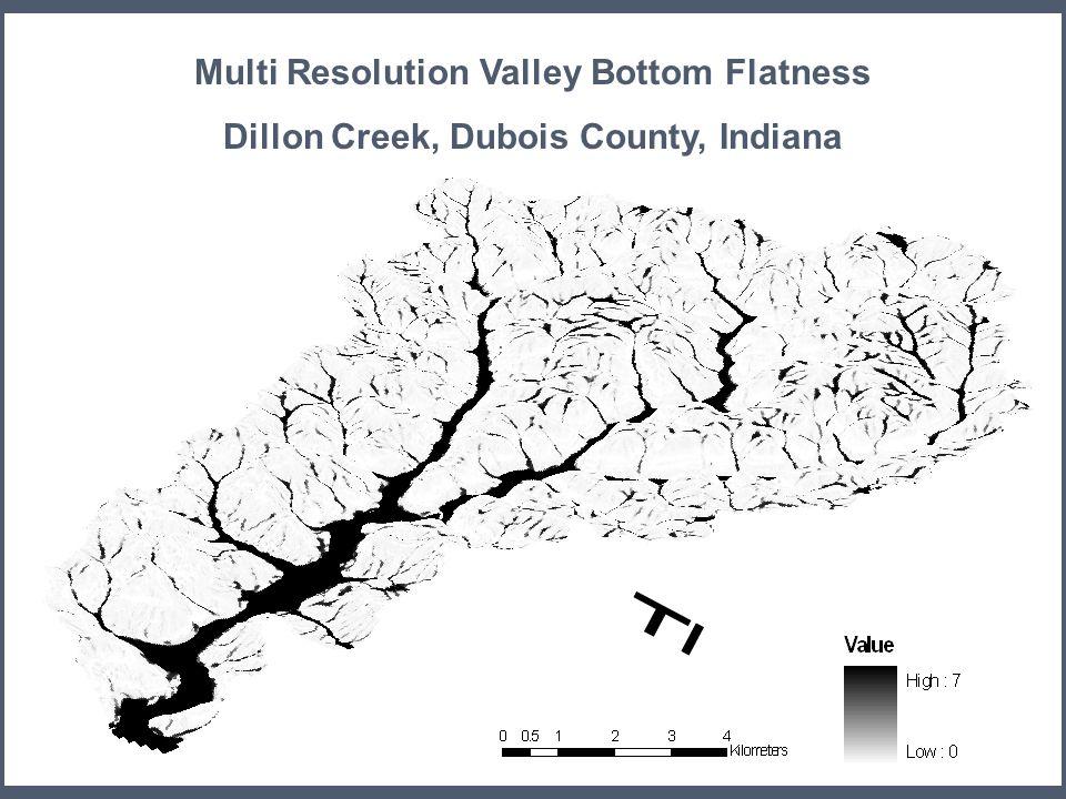 24 MRVBF Multi Resolution Valley Bottom Flatness Dillon Creek, Dubois County, Indiana