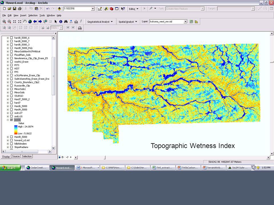 TWI: 9 Topographic Wetness Index