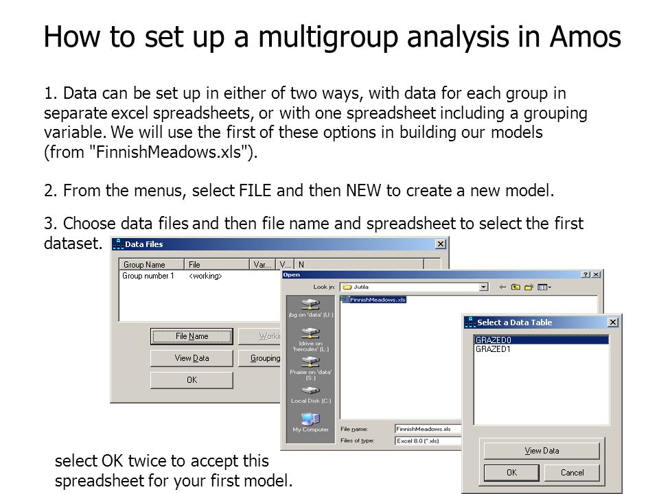 5 How to set up a multigroup analysis in Amos 1.