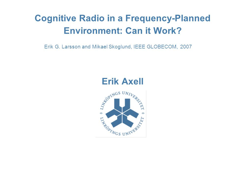 Cognitive Radio in a Frequency-Planned Environment: Can it Work.