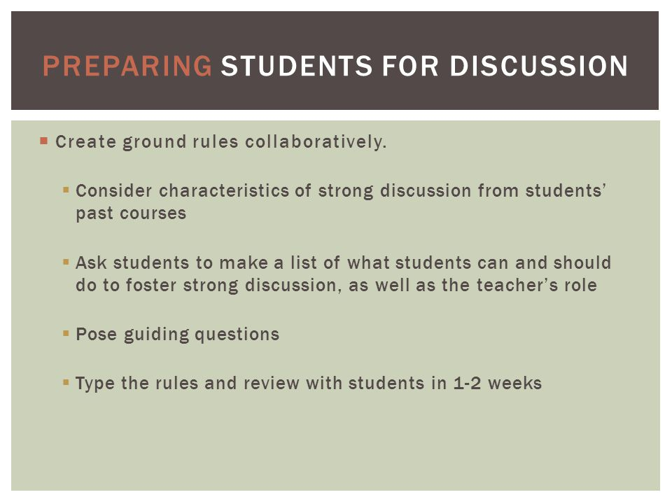  Create ground rules collaboratively.
