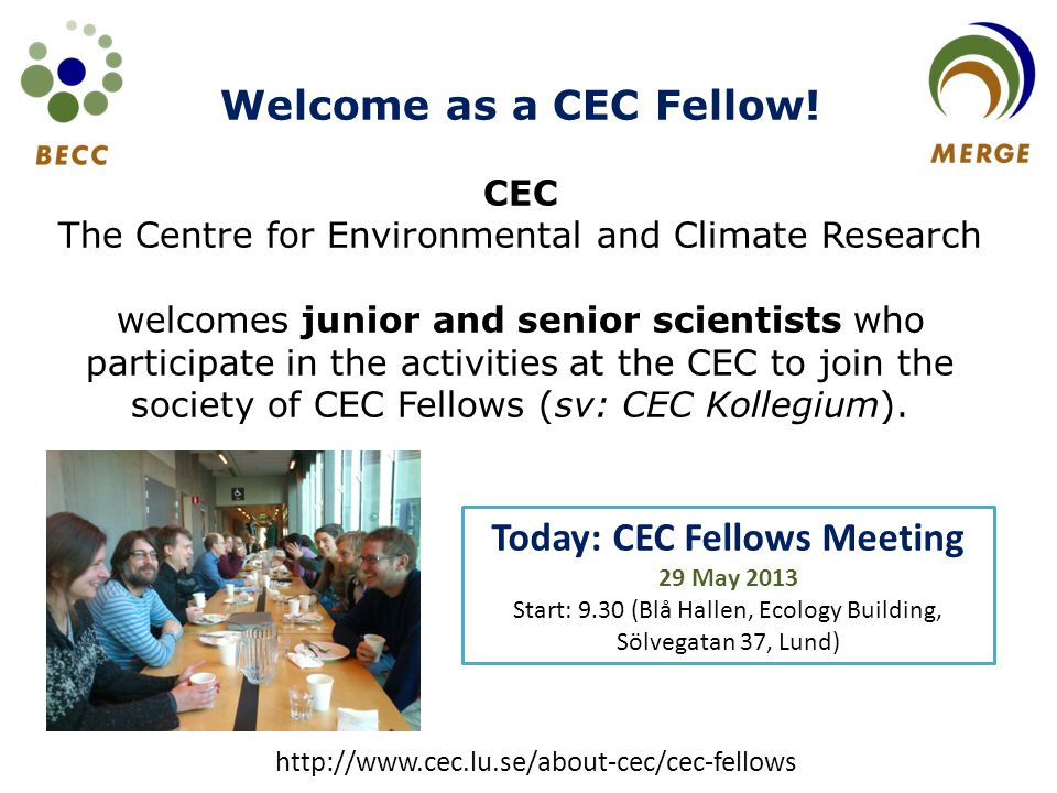 Welcome as a CEC Fellow.