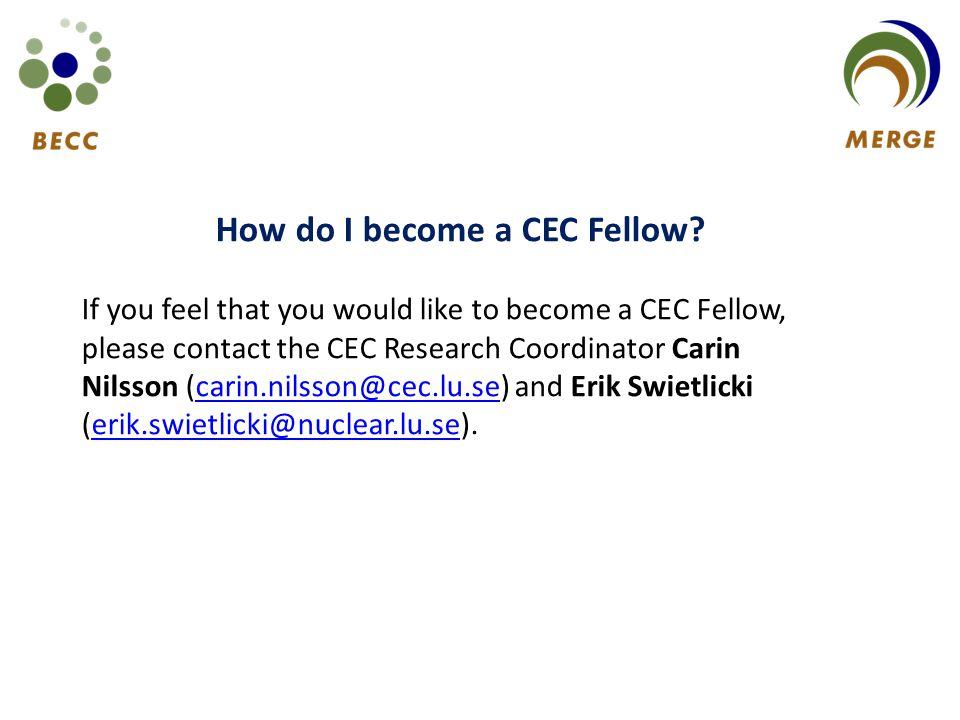 How do I become a CEC Fellow.