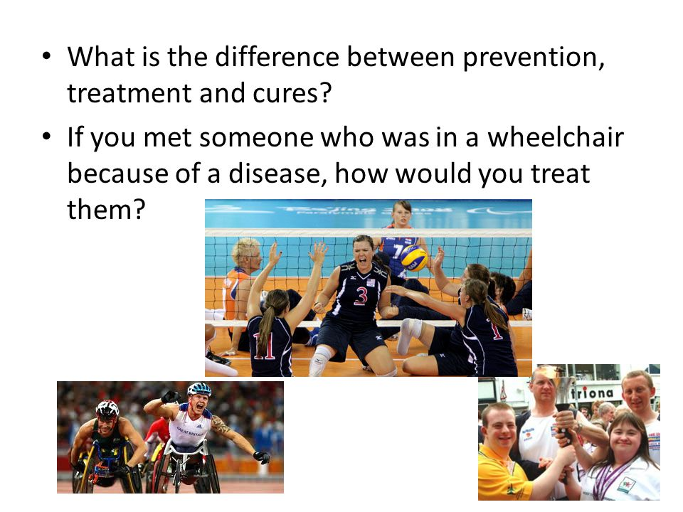 What is the difference between prevention, treatment and cures.