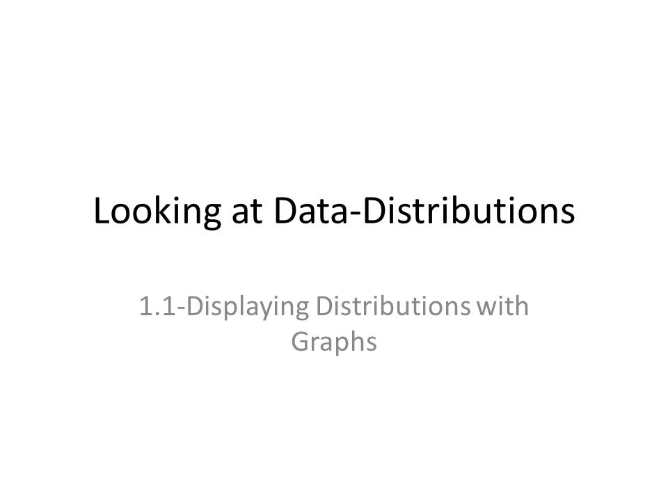 Looking at Data-Distributions 1.1-Displaying Distributions with Graphs