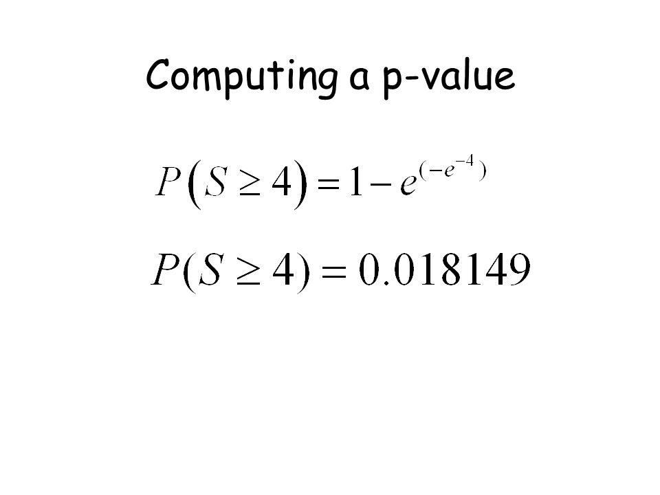 Computing a p-value