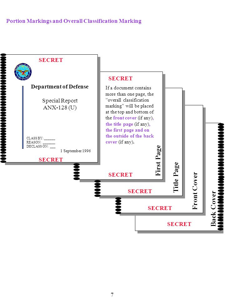 Derived from:CODE WORD SCG, dtd _____ Declassify on:December 31, 2000 TOP SECRET/CODE WORD (S) OFFICE OF THE UNDER SECRETARY OF DEFENSE FOR POLICY TOP SECRET/SPECIAL ACCESS REQUIRED SAP Documents Paragraph markings in SAP documents should contain the highest classification within the paragraph, and be followed by the SAP digraph MEMORANDUM FOR SPECIAL ACCESS PROGRAM CENTRAL OFFICES SUBJECT: Identification and Marking of Classified Documents (U) 1.(U) This is paragraph 1, which contains Unclassified information.