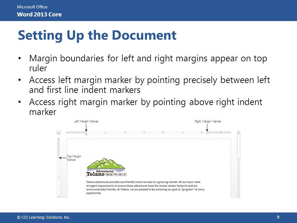 Microsoft Office Word 2013 Core Preparing to Print Portrait Orientation Select orientation.
