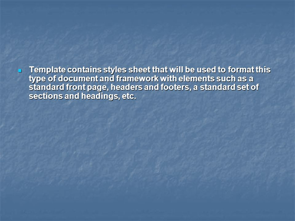 Word processing software uses the most common form of procedural mark-up.