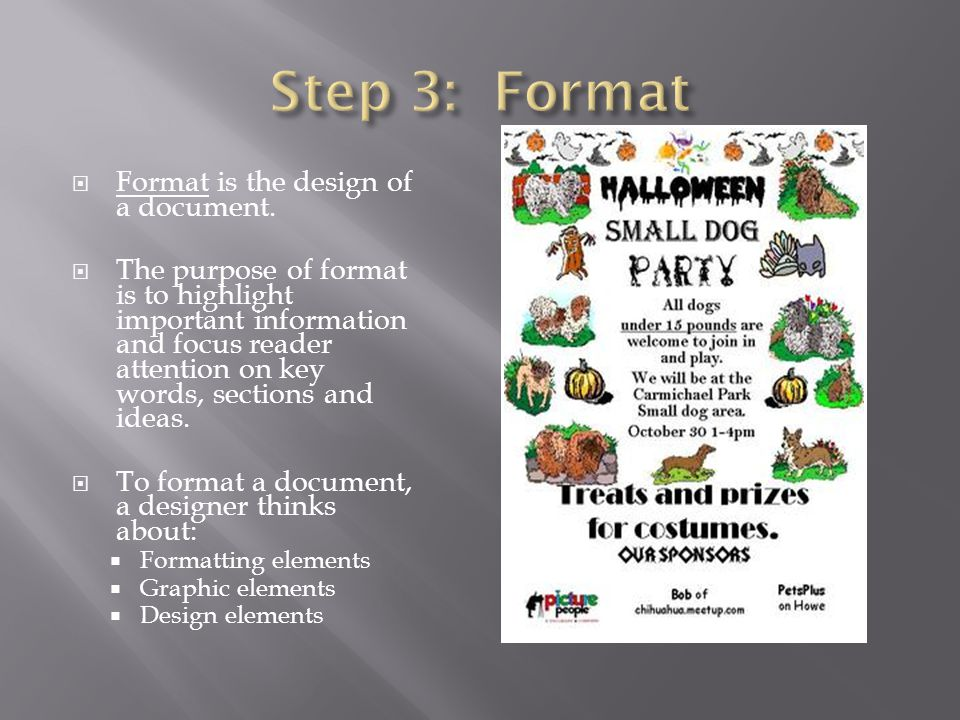  Format is the design of a document.