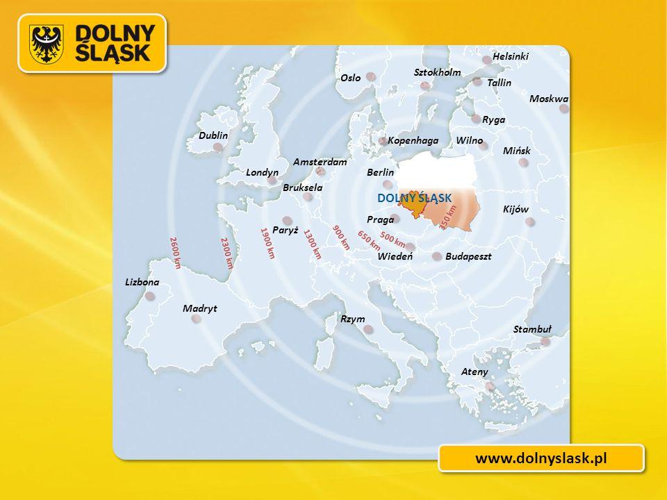 Helsinki Sztokholm Tallin Ryga Moskwa Oslo Dublin Amsterdam KopenhagaWilno Mińsk BerlinLondyn DOLNY ŚLĄSK Kijów Bruksela Praga Paryż Wiedeń Lizbona Ma
