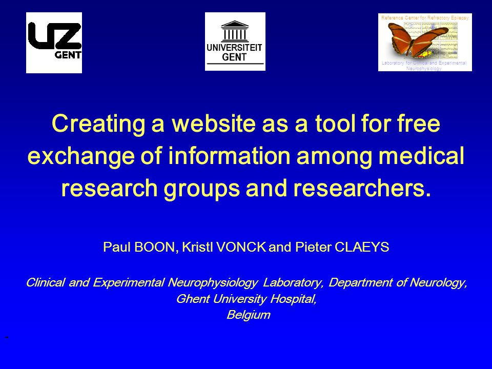 Creating a website as a tool for free exchange of information among medical research groups and researchers.