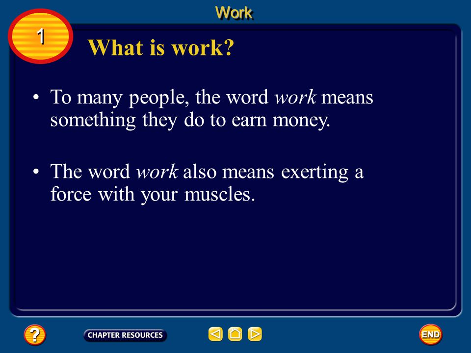 To many people, the word work means something they do to earn money.