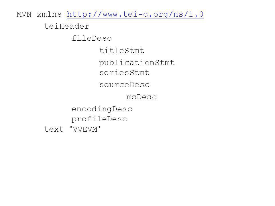 MVN xmlns http://www.tei-c.org/ns/1.0http://www.tei-c.org/ns/1.0 teiHeader fileDesc titleStmt publicationStmt seriesStmt sourceDesc msDesc encodingDesc profileDesc text VVEVM