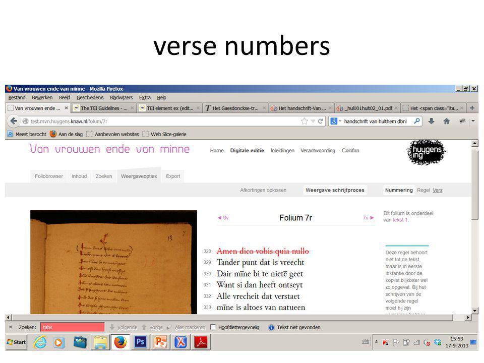 verse numbers