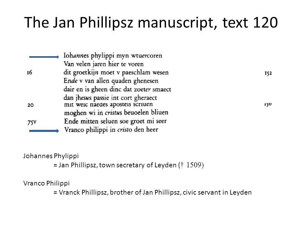 Paleographic comment by the editor as of type pc Line: En can ic niet vertrecken w[e>a]el Note: De a in wael is verbeterd uit een eerder geschreven e.