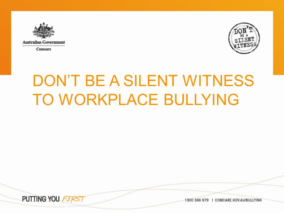 > what is workplace bullying? > what can I do about it? > Comcare's role Overview