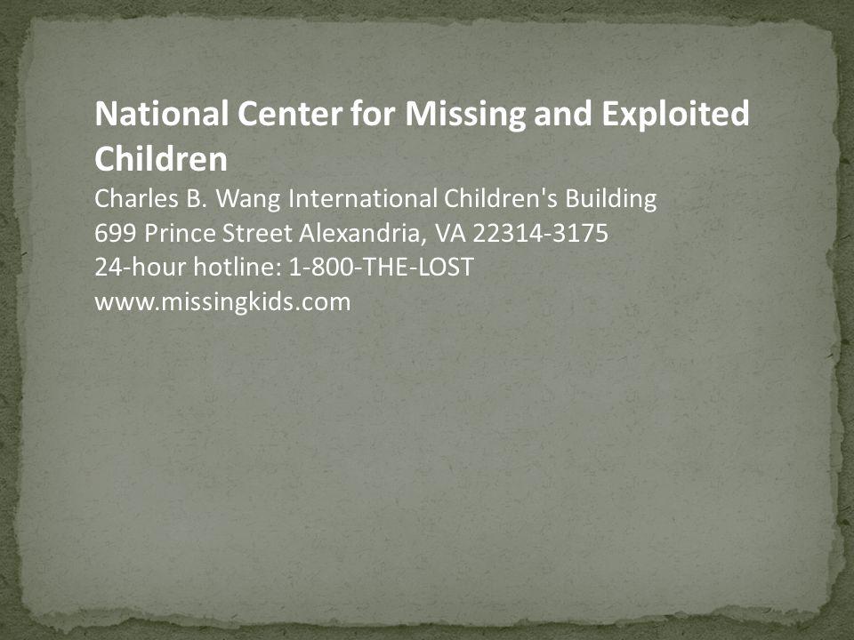 National Center for Missing and Exploited Children Charles B.