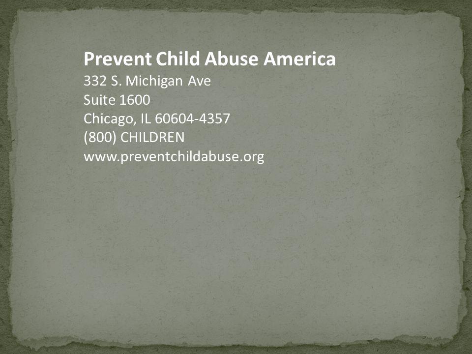 Prevent Child Abuse America 332 S.