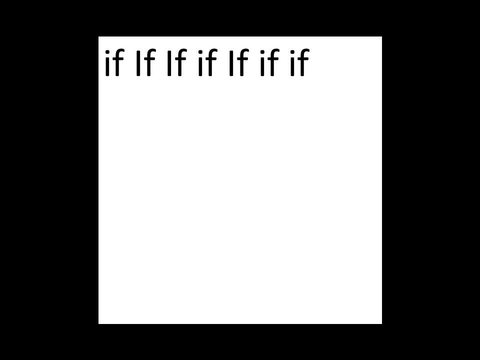 if If If if If if if