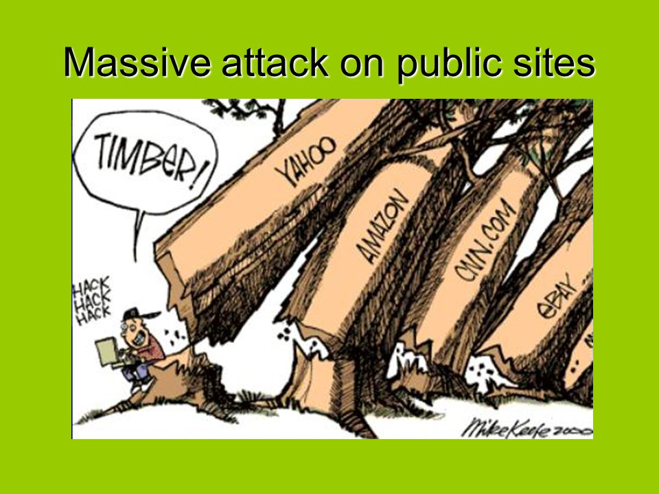 The subject came to public awareness only after a massive attack on public sites on February 2000.