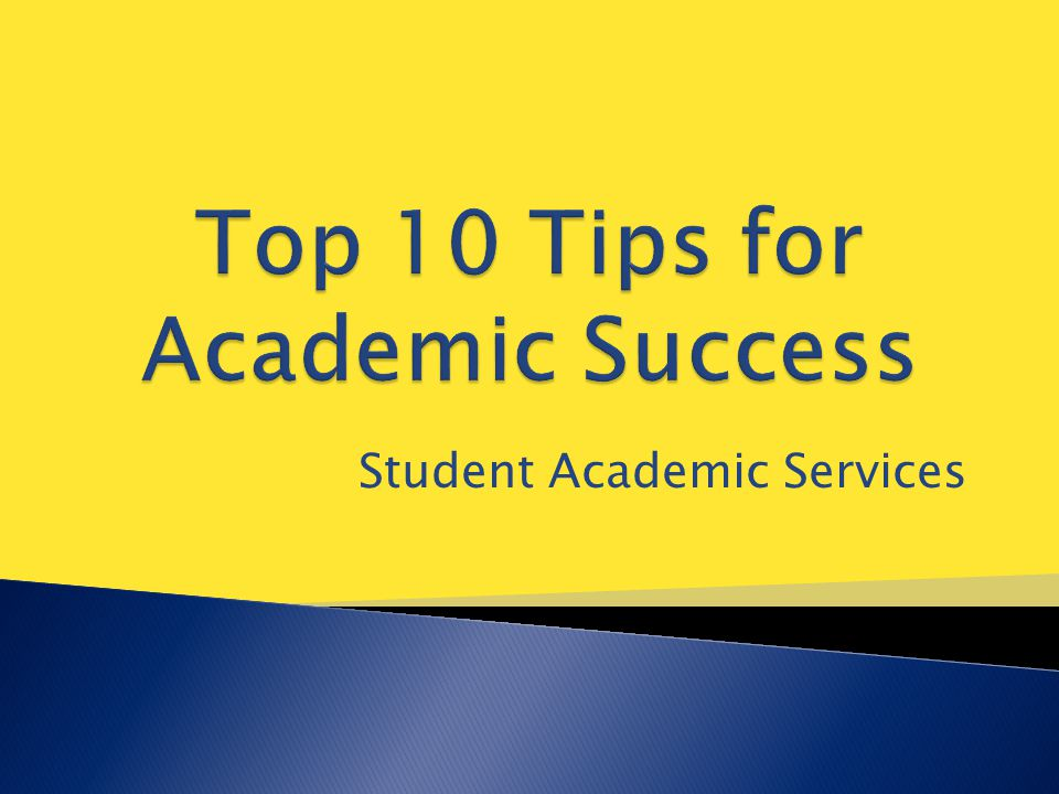 Student Academic Services