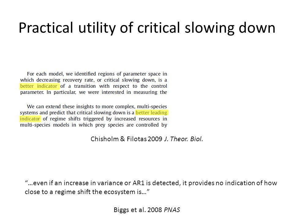 Practical utility of critical slowing down Biggs et al.
