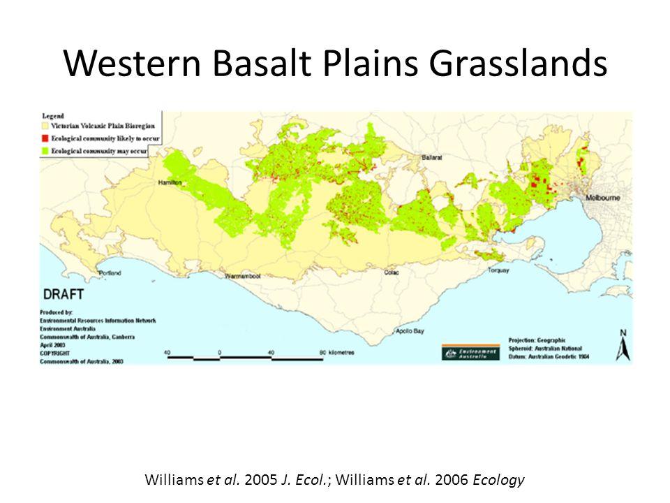 Williams et al. 2005 J. Ecol.; Williams et al. 2006 Ecology