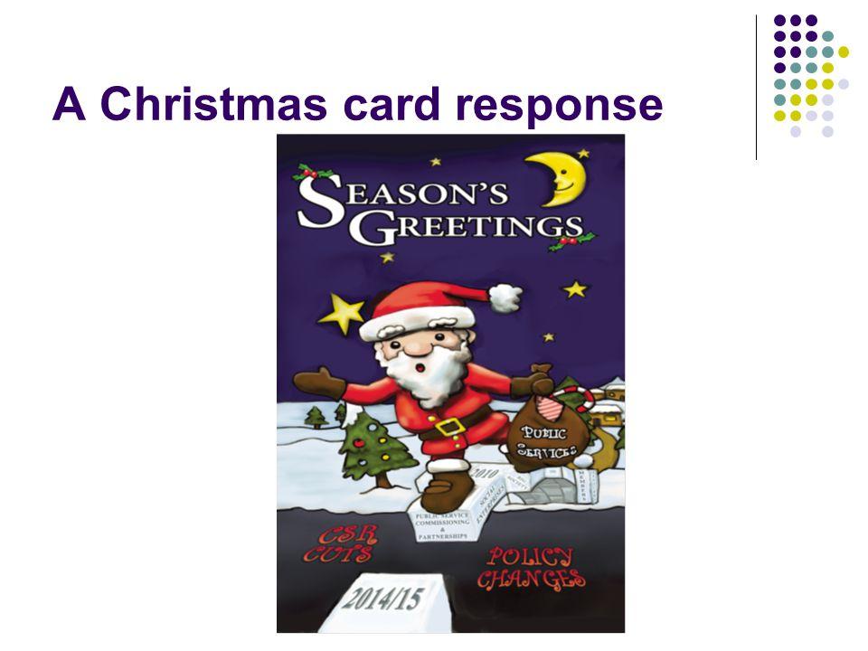A Christmas card response