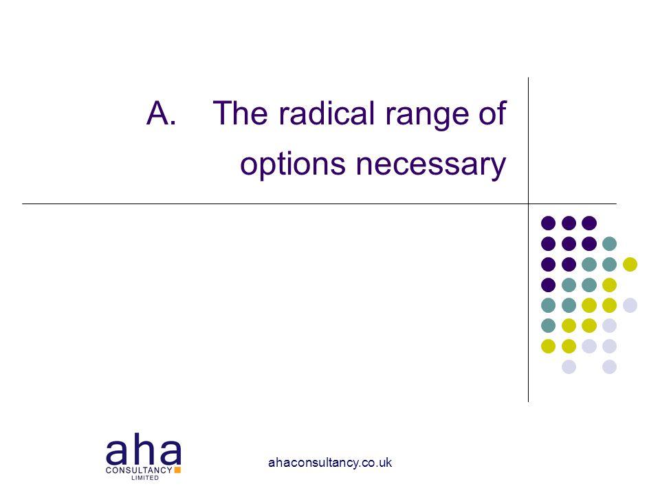 ahaconsultancy.co.uk A.The radical range of options necessary