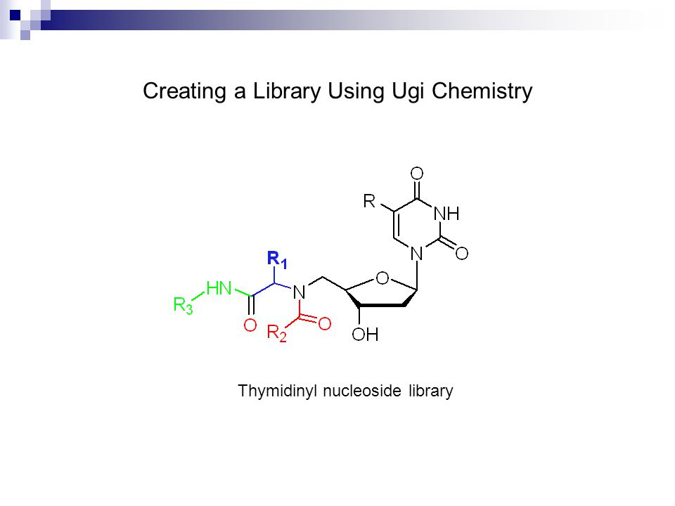 Thymidinyl nucleoside library Creating a Library Using Ugi Chemistry