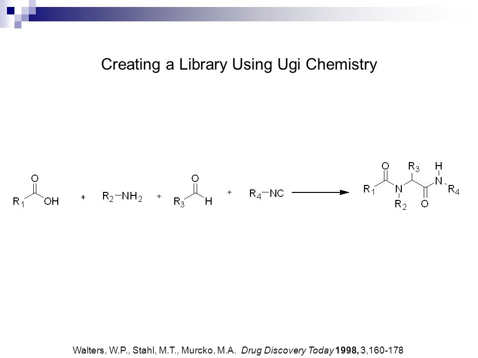 Creating a Thymidinyl Ugi Library Sun, D., Lee, R.E. Tetrahedron Lett. 2005, 46, 8497-8501