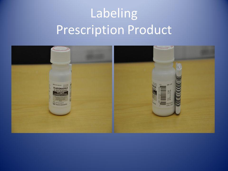 Labeling Prescription Product
