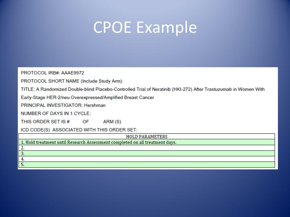 CPOE Example
